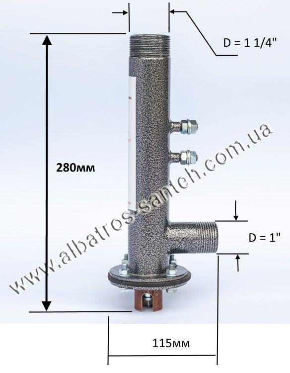 Размер однофазного электродного котла HotPot